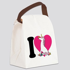 unicorn butterfly cp blk Canvas Lunch Bag