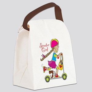 Scooter Kid Canvas Lunch Bag