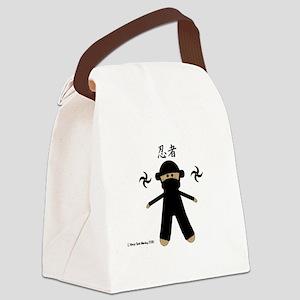 Ninja Sock Monkey 2010 Canvas Lunch Bag