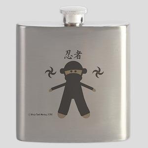 Ninja Sock Monkey 2010 Flask