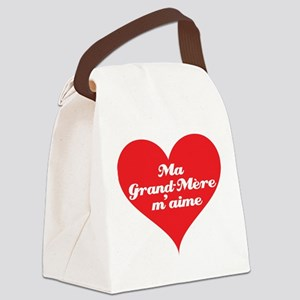 grandma_loves_me_french Canvas Lunch Bag