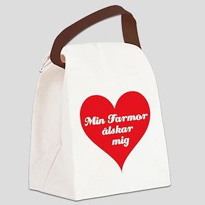 grandma_loves_me_swedish Canvas Lunch Bag