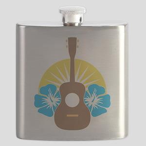 Ukulele Hibiscus Flask