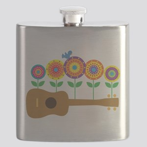 Ukulele Flowers Flask