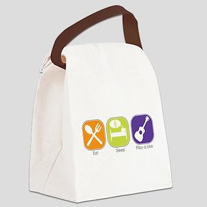 Eat_Sleep_Play Uke Canvas Lunch Bag