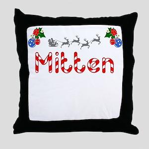 Mitten, Christmas Throw Pillow
