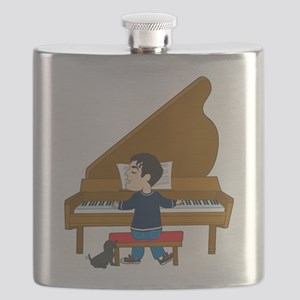 piano player and dog Flask