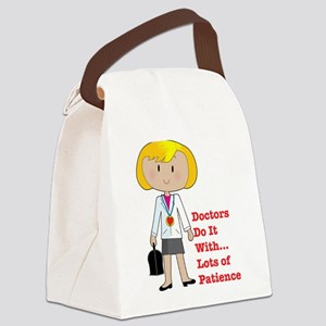 doctor female pod Canvas Lunch Bag