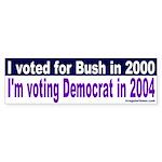 Bushies for Democrats Bumper Sticker