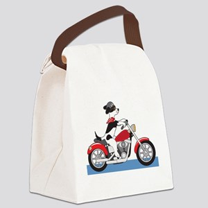 Dog Motorcycle Canvas Lunch Bag