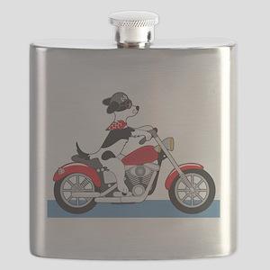 Dog Motorcycle Flask