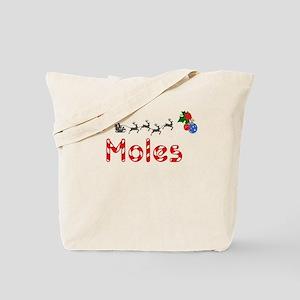 Moles, Christmas Tote Bag