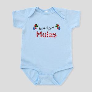 Moles, Christmas Infant Bodysuit