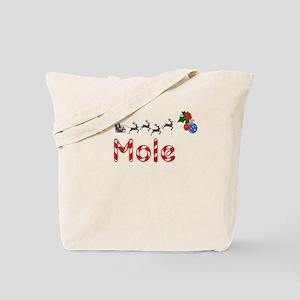 Mole, Christmas Tote Bag