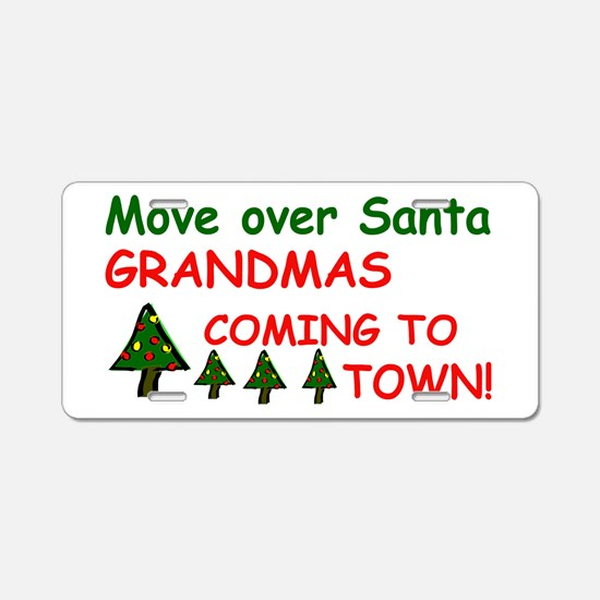 Santa Move Over.png Aluminum License Plate