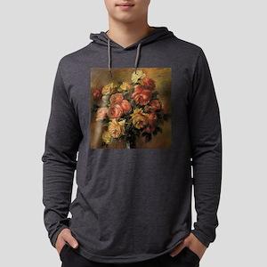 Roses in a Vase by Renoir Mens Hooded Shirt