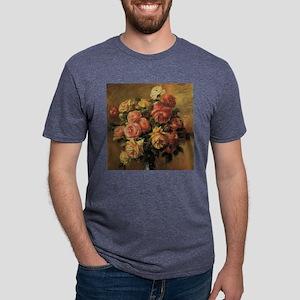 Roses in a Vase by Renoir Mens Tri-blend T-Shirt