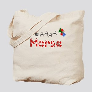 Morse, Christmas Tote Bag