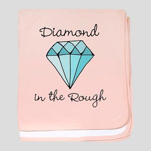 'Diamond in the Rough' baby blanket
