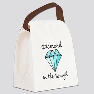 'Diamond in the Rough' Canvas Lunch Bag