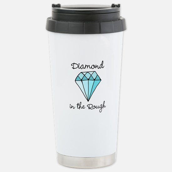 'Diamond in the Rough' Stainless Steel Travel Mug