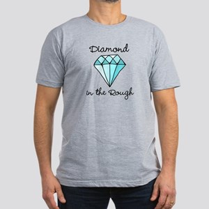 'Diamond in the Rough' Men's Fitted T-Shirt (dark)