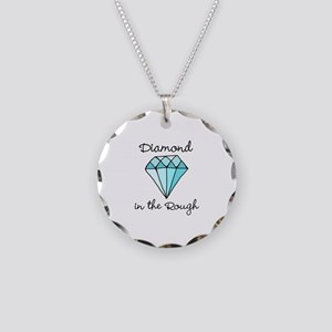 'Diamond in the Rough' Necklace Circle Charm