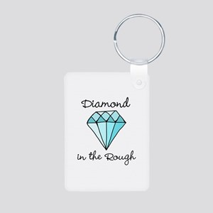 'Diamond in the Rough' Aluminum Photo Keychain