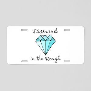 'Diamond in the Rough' Aluminum License Plate