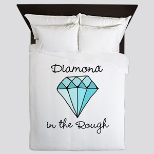 'Diamond in the Rough' Queen Duvet