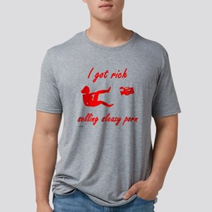 Got Rich Selling Porn Mens Tri-blend T-Shirt