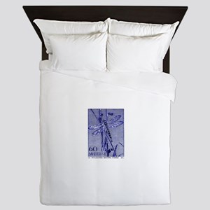 1979 Sweden Dragonfly Postage Stamp Queen Duvet