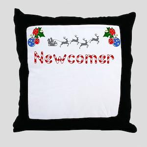 Newcomer, Christmas Throw Pillow