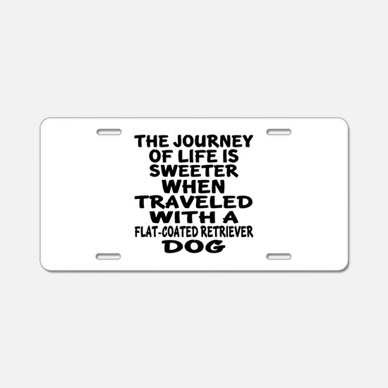 Traveled With Flat-Coated R Aluminum License Plate