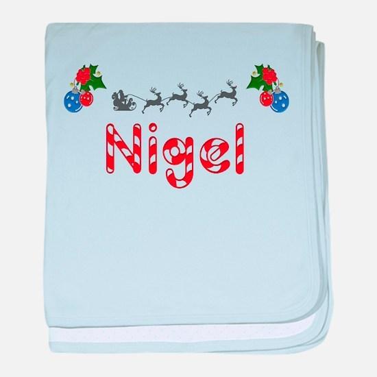 Nigel, Christmas baby blanket