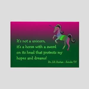 Scrubs Unicorn Quotes Rectangle Magnet