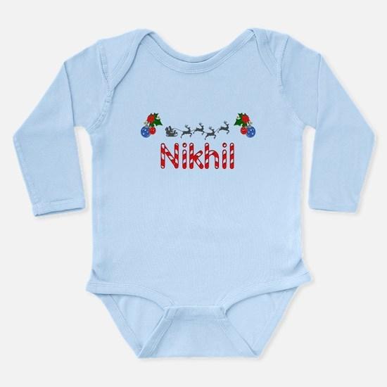 Nikhil, Christmas Long Sleeve Infant Bodysuit