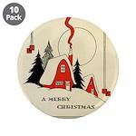 Vintage Merry Christmas Card 3.5