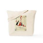 Vintage Merry Christmas Card Tote Bag