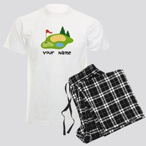 Personalized Golfing Men's Light Pajamas