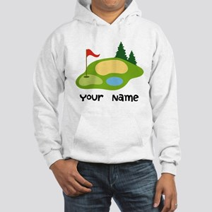 Personalized Golfing Hooded Sweatshirt