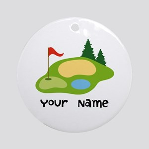 Personalized Golfing Ornament (Round)