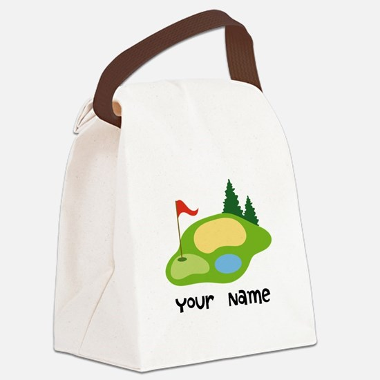 Personalized Golfing Canvas Lunch Bag