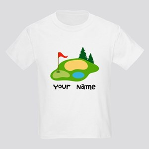 Personalized Golfing Kids Light T-Shirt