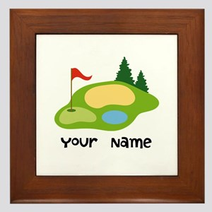 Personalized Golfing Framed Tile
