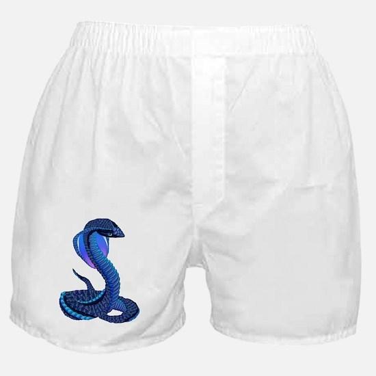 A Big Blue Snake Boxer Shorts