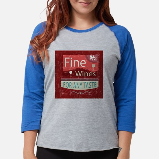 retro vintage style wine shop  Womens Baseball Tee