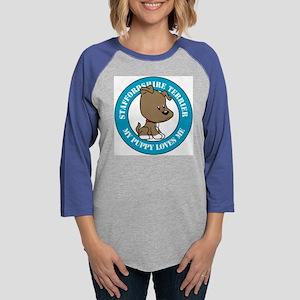 Staffordshire_Terrier Womens Baseball Tee