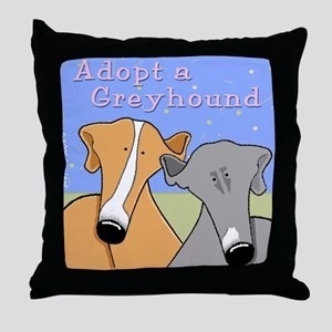 Adopt a Greyhound Throw Pillow