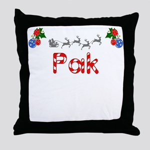 Pak, Christmas Throw Pillow